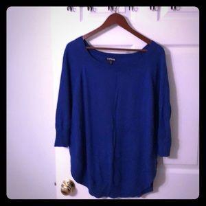 Royal Blue Express Sweater- medium